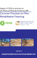 mine rehabilitation financing